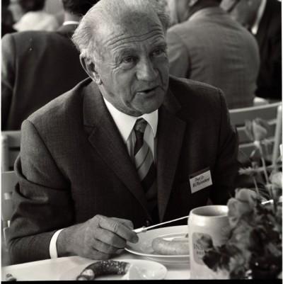 Werner Heisenberg zu Gast bei der Lindauer Nobelpreisträgertagung 1969. Foto: LNLM/Werner Stuhler