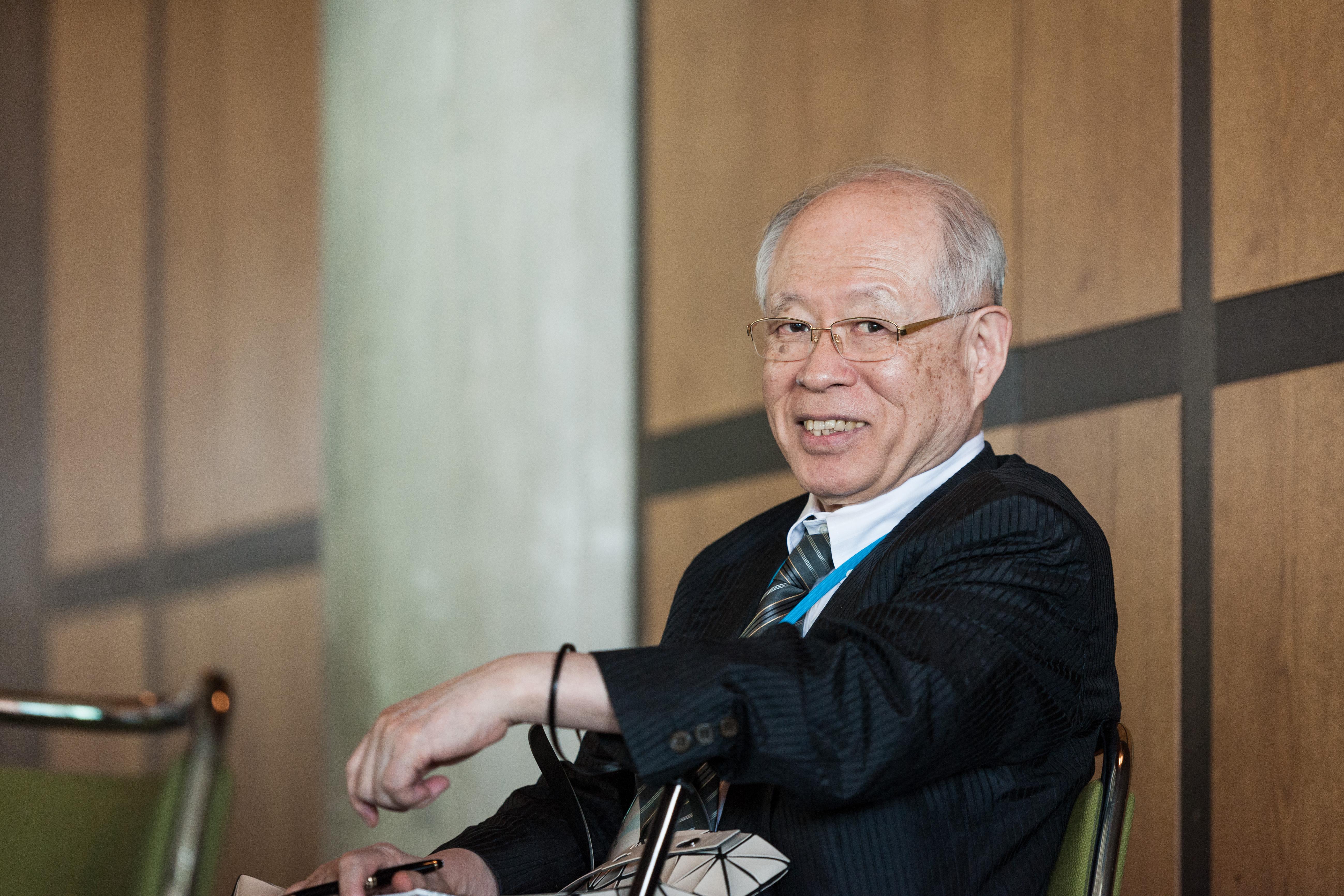 Nobelpreisträger Ryoji Noyori beid er 65. Lindauer Nobelpreisträgertagung. Foto: A. Schröder/Lindau Nobel Laureate Meetings