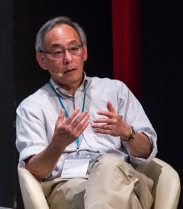 Steven Chu während einer Podiumsdiskussion auf der Lindauer Nobelpreisträgertagung 2015 zum Thema Interdisziplinarität. Foto: Ch. Flemming/LNLM