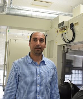 Dr. Kaddour Lekhal is a postdoc researcher in the Amano lab in Nagoya. His work focuses on the synthesis and characterization of nanostructures, particularly III-V semiconductor nanowires. Photo: Ye Zheng, Amano lab
