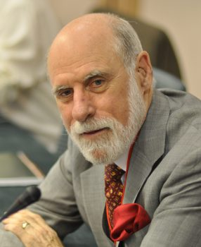Vinton Cerf at a meeting in Vilnius in 2010. Photo: Veni Markovski, CC BY 3.0