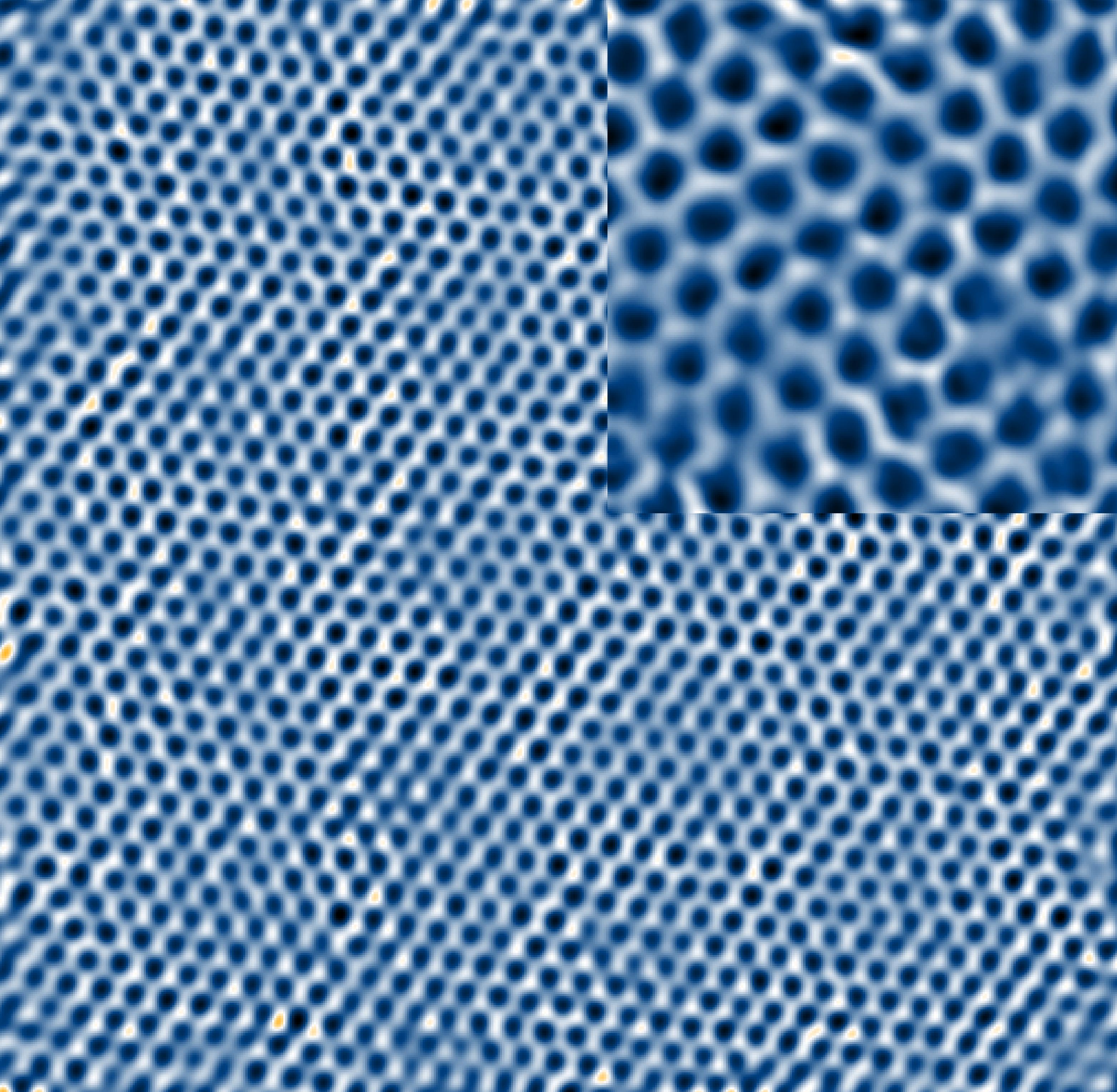 Rastertunnelmikroskopie-Aufnahme von Graphen. Photo: T. Druga/ P. Willke