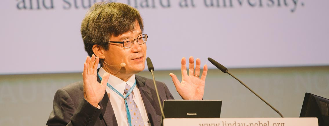 Hiroshi Amano bei #LiNo16. Foto: J. Nimke/Lindau Nobel Laureate Meetingds