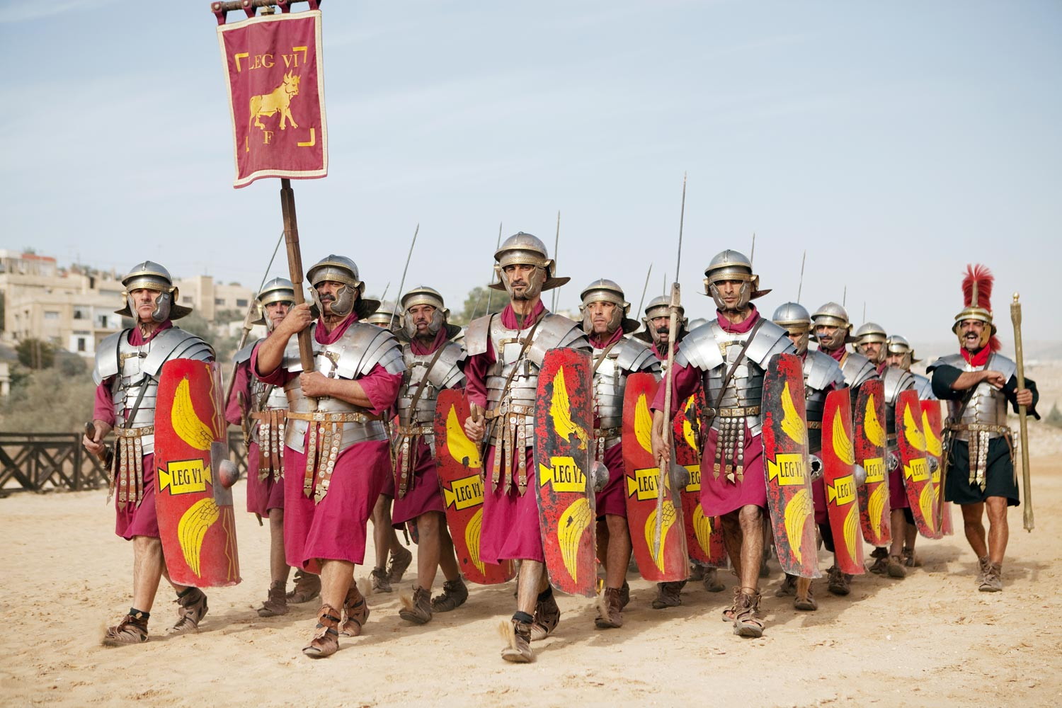 Fig 2. Coherent Roman legionaries marching towards the Belgians. Photo: iStock.com/1001nights
