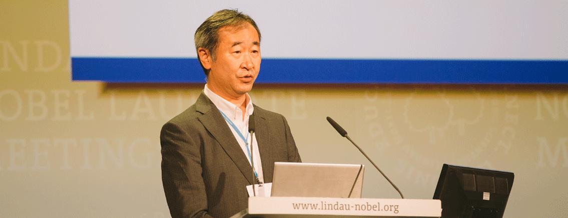 Takaaki Kajita während seines Vortrags bei #LiNo16. Foto: Ch. Flemming/Lindau Nobel Laureate Meetings