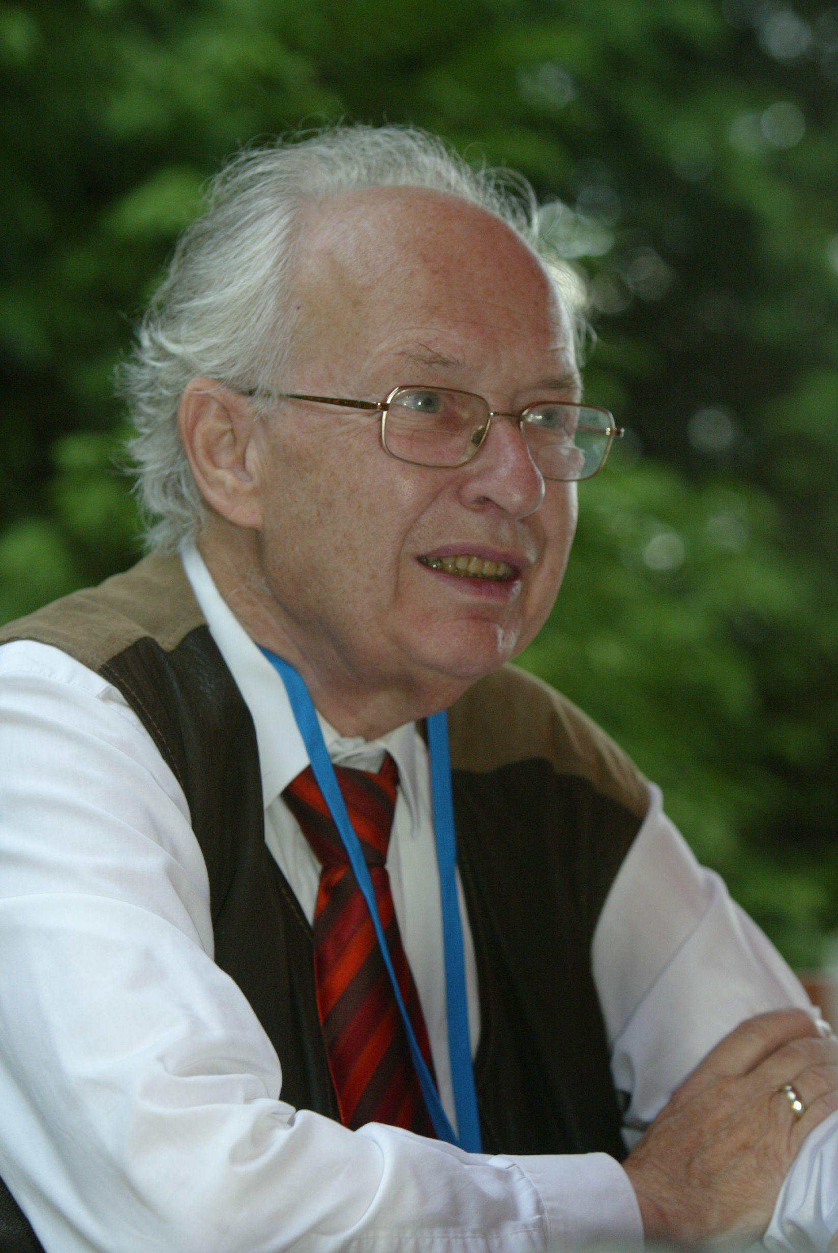 Selten at the 2nd Lindau Meeting on Economic Sciences in 2006. Photo: Ch. Flemming/Lindau Nobel Laureate Meetings