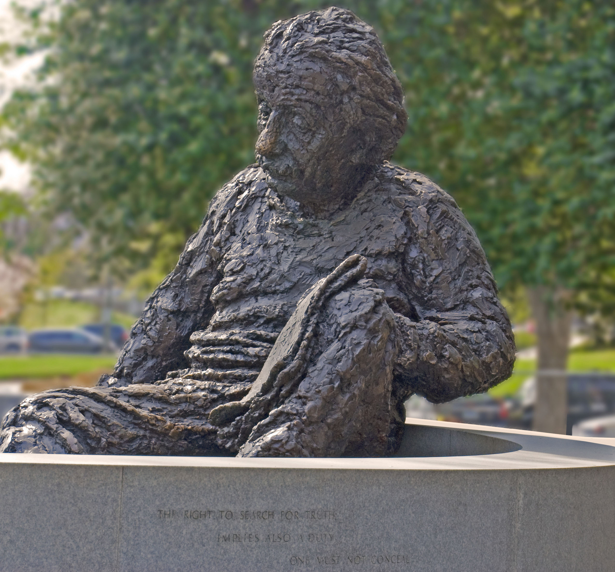 The Albert Einstein Memorial at the National Academy of Sciences in Washington DC. Picture: Ron Cogswell (CC BY 2.0)