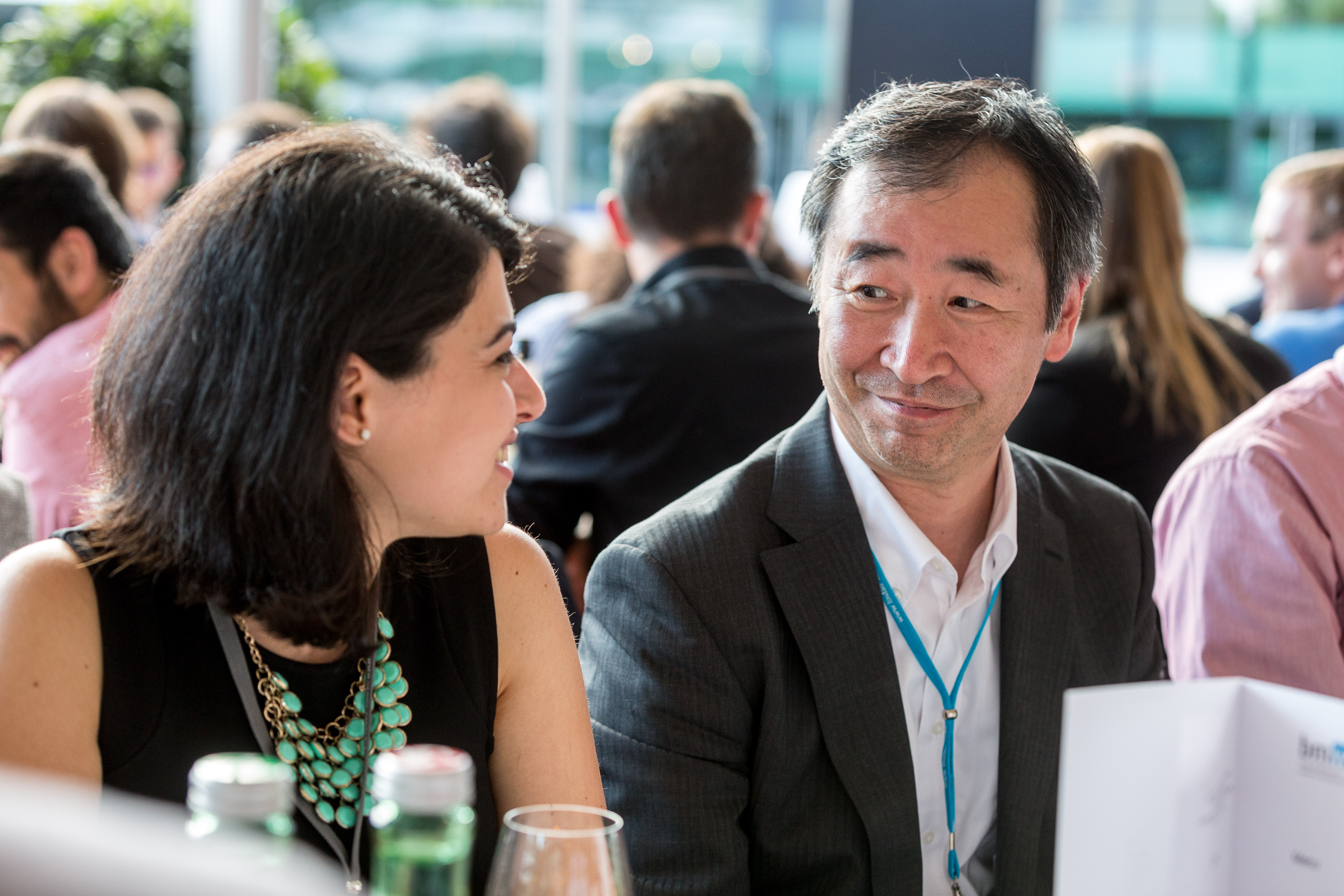 Zara Bagdasarian and Nobel Laureate Takaaki Kajita at the 66th Lindau Nobel Laureate Meeting, 27.06.2016, Lindau, Germany, Picture/Credit: Christian Flemming/Lindau Nobel Laureate Meetings