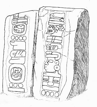 Zwei Stelen von der mexikanischen Ausgrabungsstätte Monte Alban. Auf ihnen ist einer der ältesten Kalender Amerikas dargestellt. Bild: Siyajkak, CC BY-SA 3.0