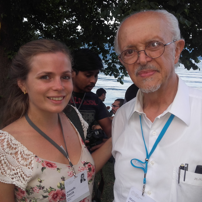 Antonella with Nobel Laureate Mario Molina. Photo: Courtesy of Antonella Coccia.