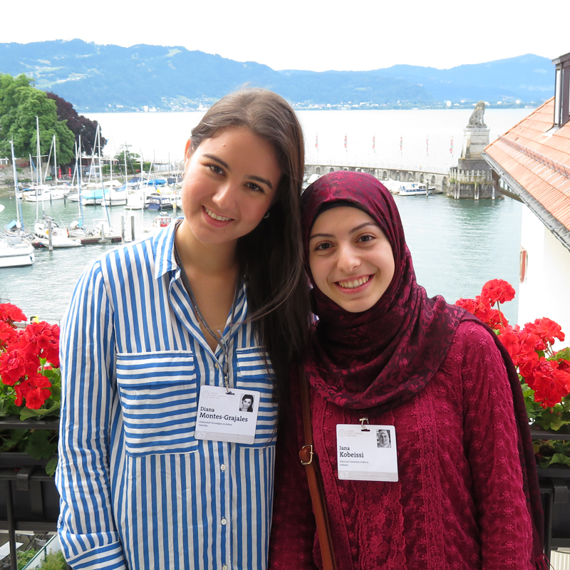 Diana Montes Grajales and Jana Kobeissi during the 67th Lindau Meeting. Photo: Courtesy of Diana Montes Grajales