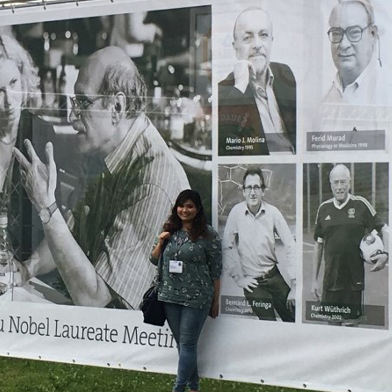 Sheela Chandren during the 67th Lindau Meeting. Photo: Courtesy of Sheela Chandren