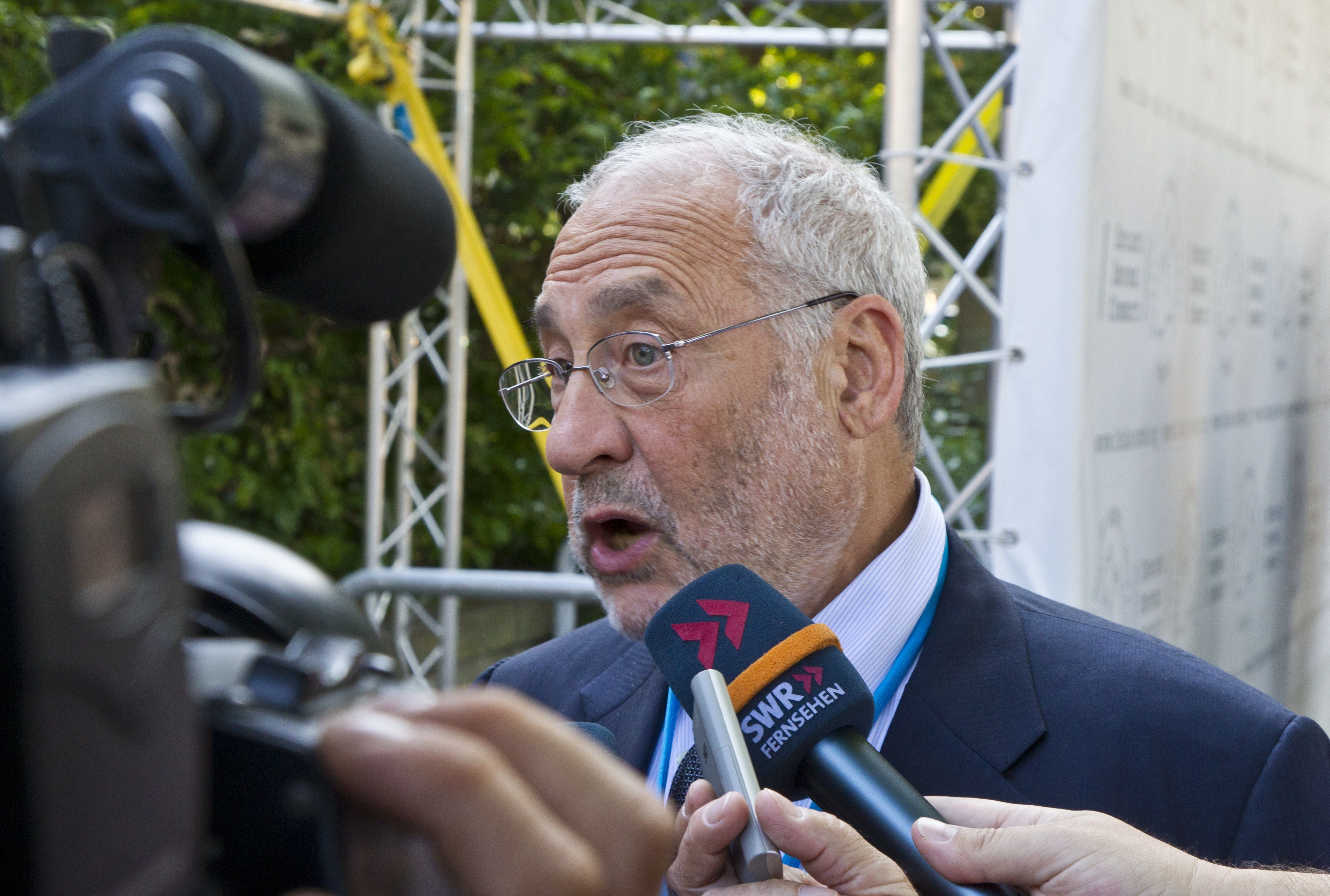 Joseph Stiglitz in 2011 during the 4th Lindau Meeting on Economic Sciences. Picture/Credit: Christian Flemming/Lindau Nobel Laureate Meetings
