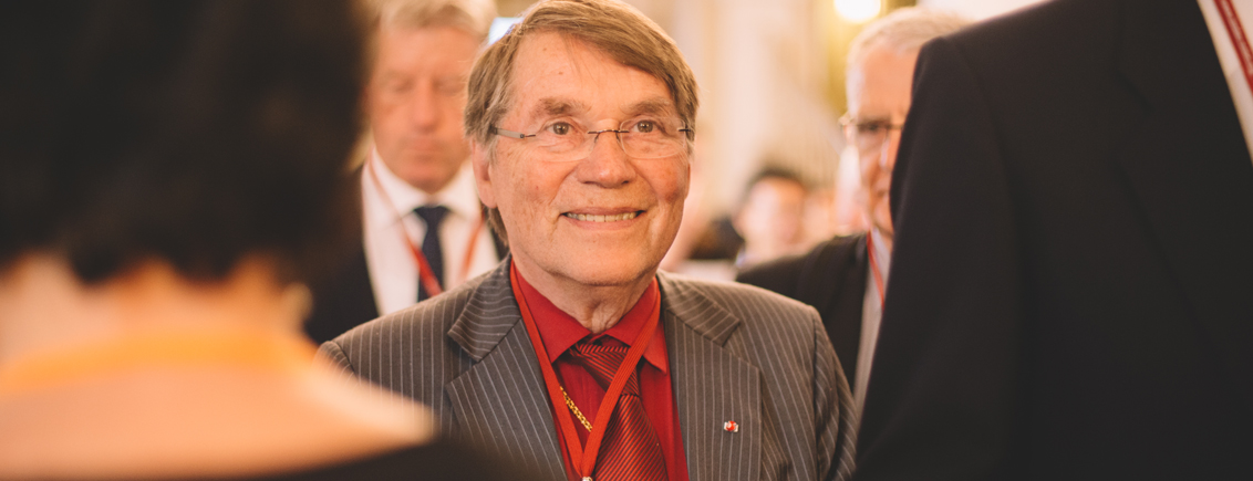Gunnar Stålsett at the Lindau Meeting in 2016. Photo/Credit: Julia Nimke/Lindau Nobel Laureate Meetings