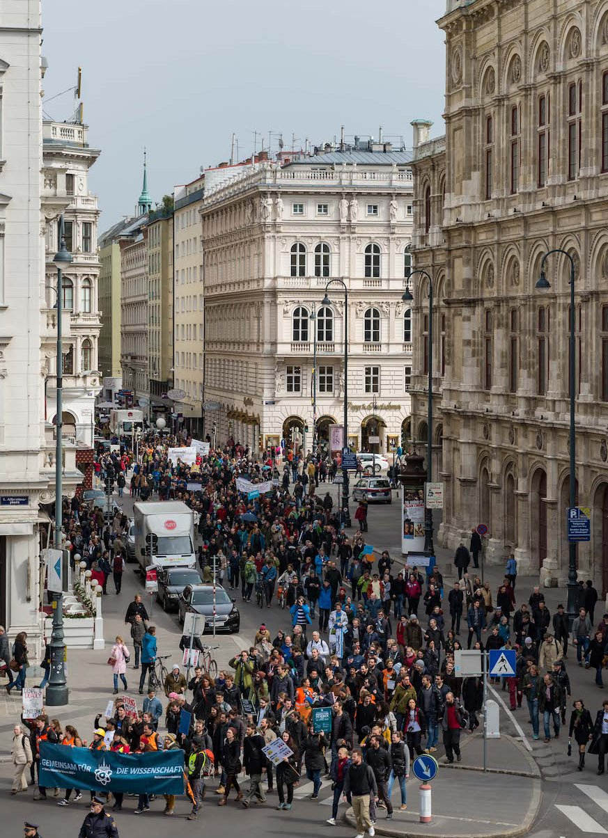 More than 2000 people participated in the Vienna March for Science on 22 April 2017. Photo: © March for Science Vienna