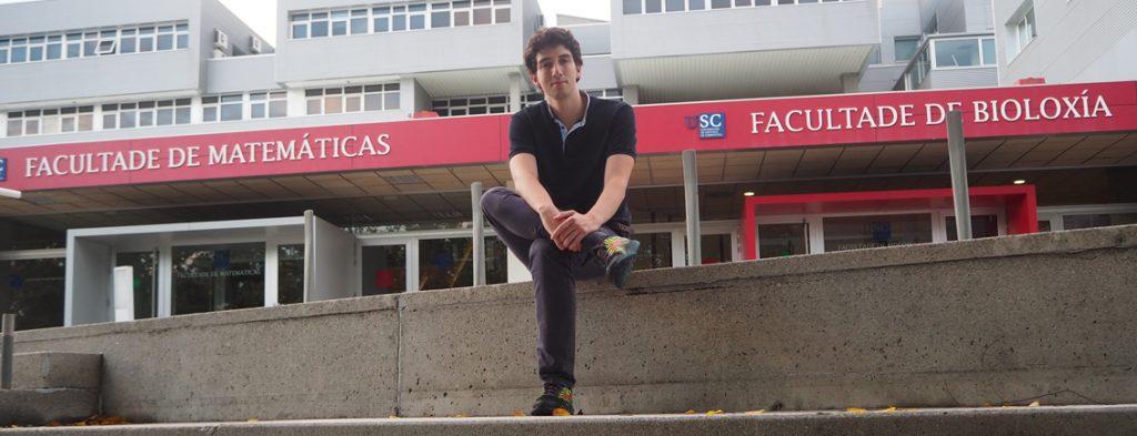 Fernando Castro-Prado in front of his institute