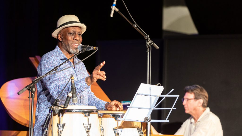 Musician Karl Frierson during his #LINO70 concert